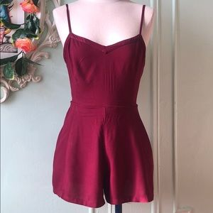 American Eagle Outfitters burgundy romper